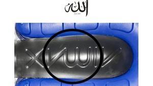 La inscripción de la polémica en las zapatillas Air 270 de Nike.