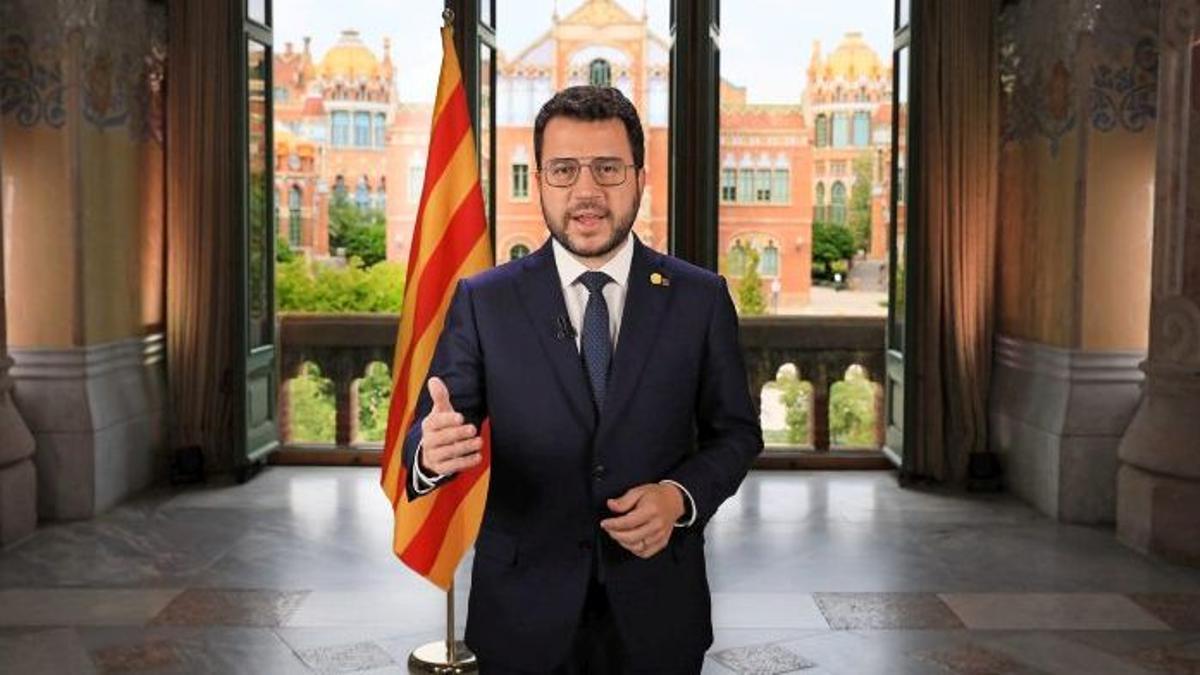 Mensaje institucional del 'president' Pere Aragonès por la Diada 2021