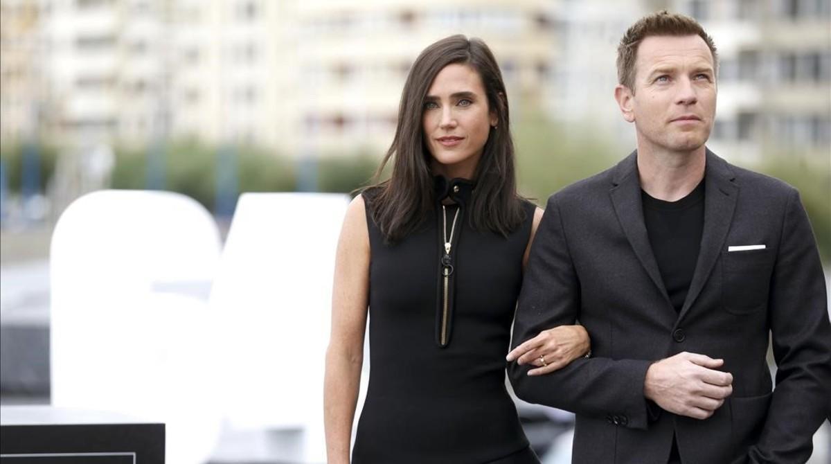 Ewan McGregor y Jennifer Connelly, en San Sebastián, donde presentan en la sección oficial a concurso 'Pastoral americana'.