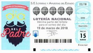 Sorteo de la Lotería Nacional del Día del Padre 2018.