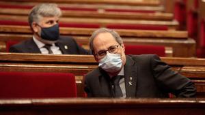 Quim Torra,en el Parlament.