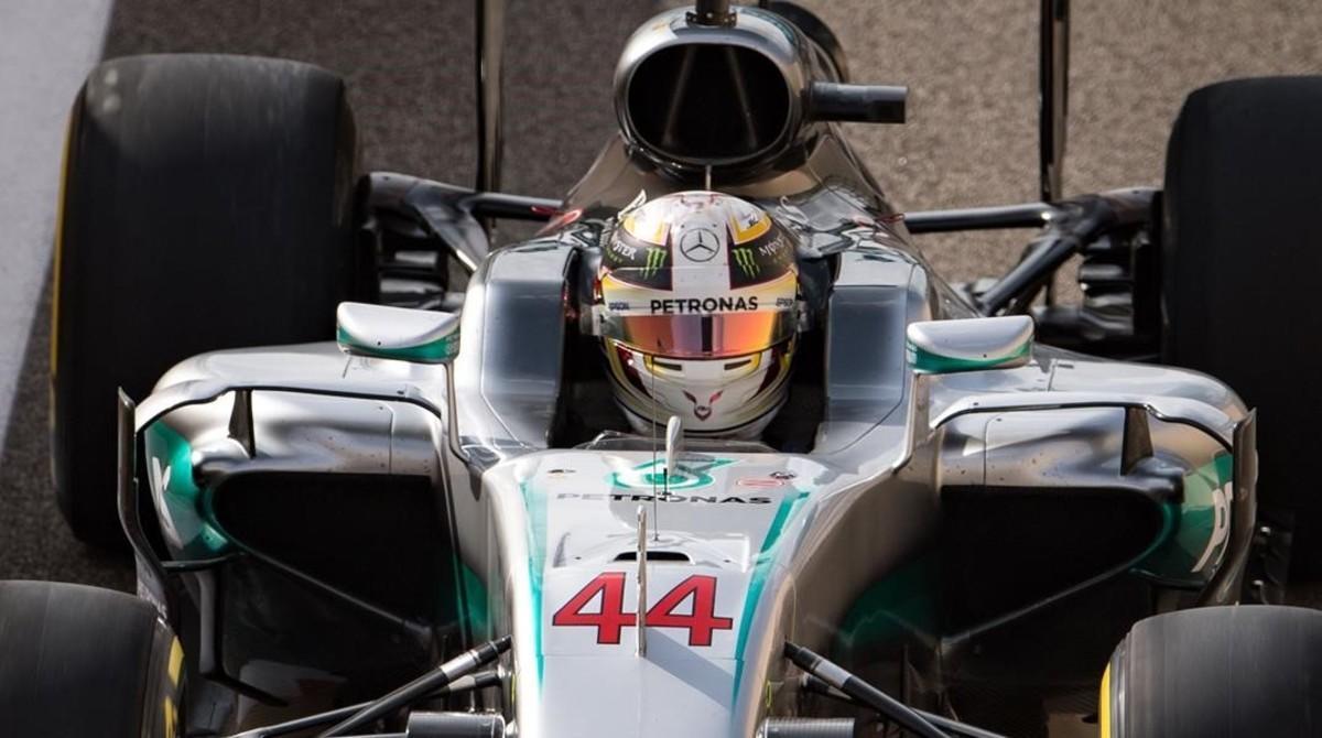 Lewis Hamilton (Mercedes), hoy en el GP de Abu Dabi.