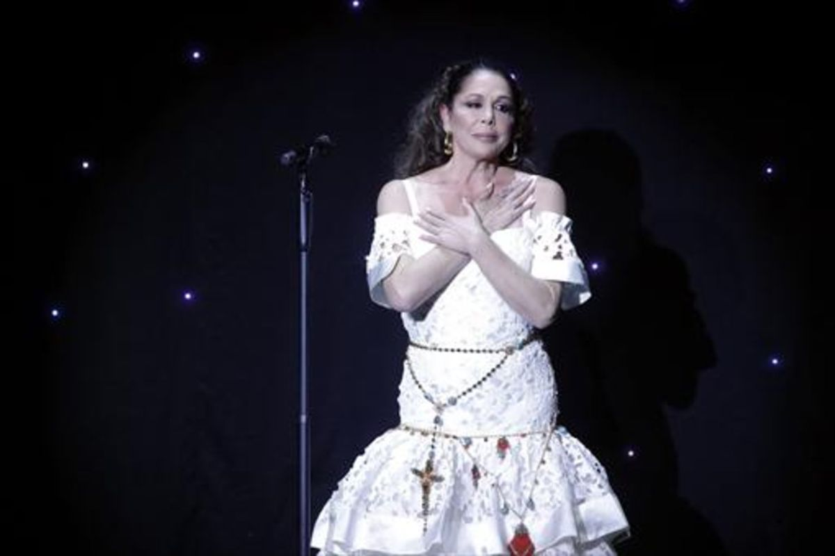 Isabel Pantoja, en el recital de la noche del pasado día 10,en Aranjuez.
