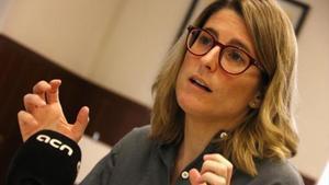 Elsa Artadi, ayer, durante una entrevista en la ACN.