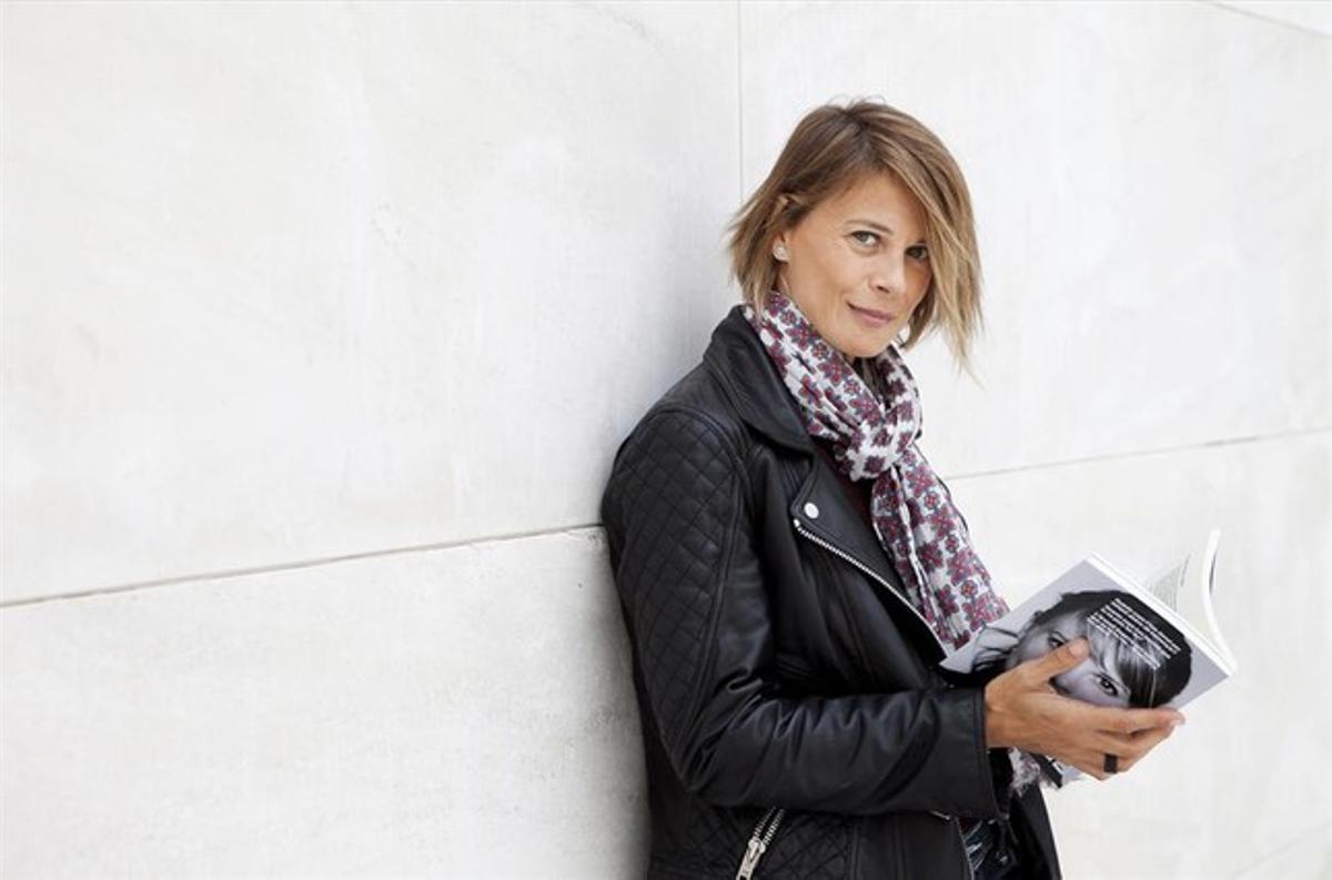 Araceli Segarra posa para este diario cerca de las fuentes de Montjuïc.