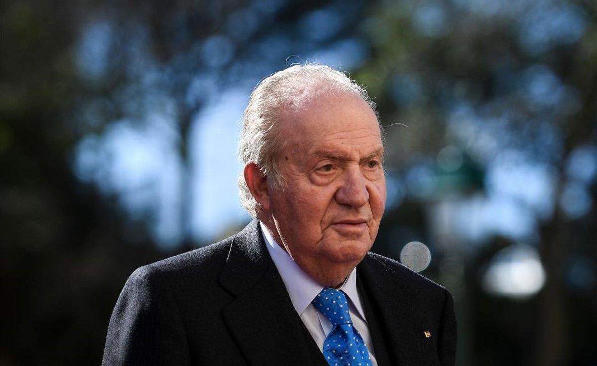 El rey Juan Carlos I en febrero del 2018.