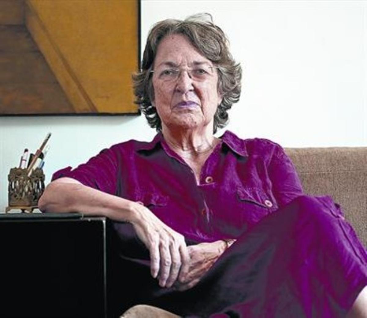 La escritora y editora Esther Tusquets en una imagen del 2007, cuando publicó 'Habíamos ganado la guerra'.