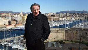 Gérard Depardieu, en Marsella, en la presentación de la segunda temporada de la serie de Netflix 'Marsella'.