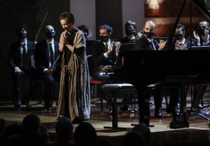 La pianista Maria João Pires en el escenario del Palau de la Música