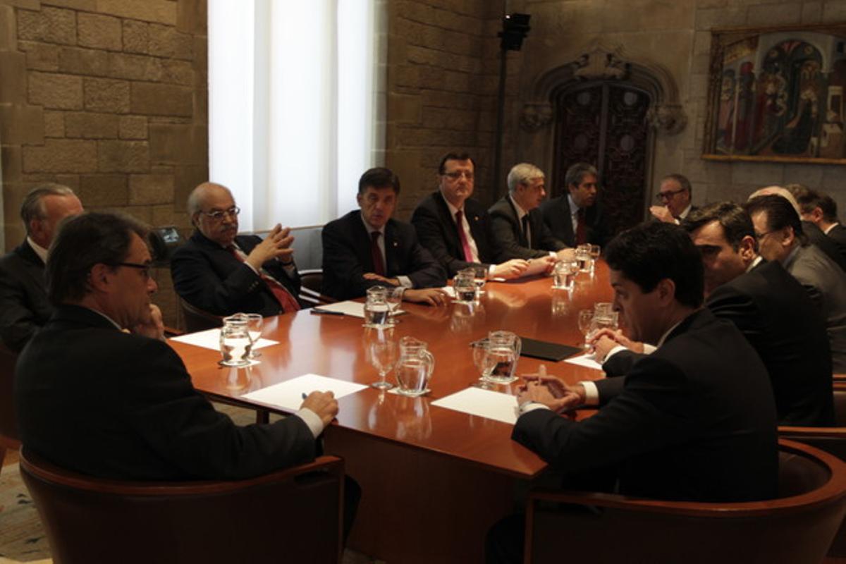 Reunión en la Generalitat para presentar el plan sustituto del proyecto Eurovegas.
