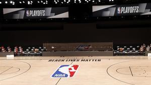 Pista de NBA en la burbuja de Orlando