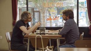 James Rhodes y Jordi Ëvole, en un momento de la entrevista en 'Salvados'.