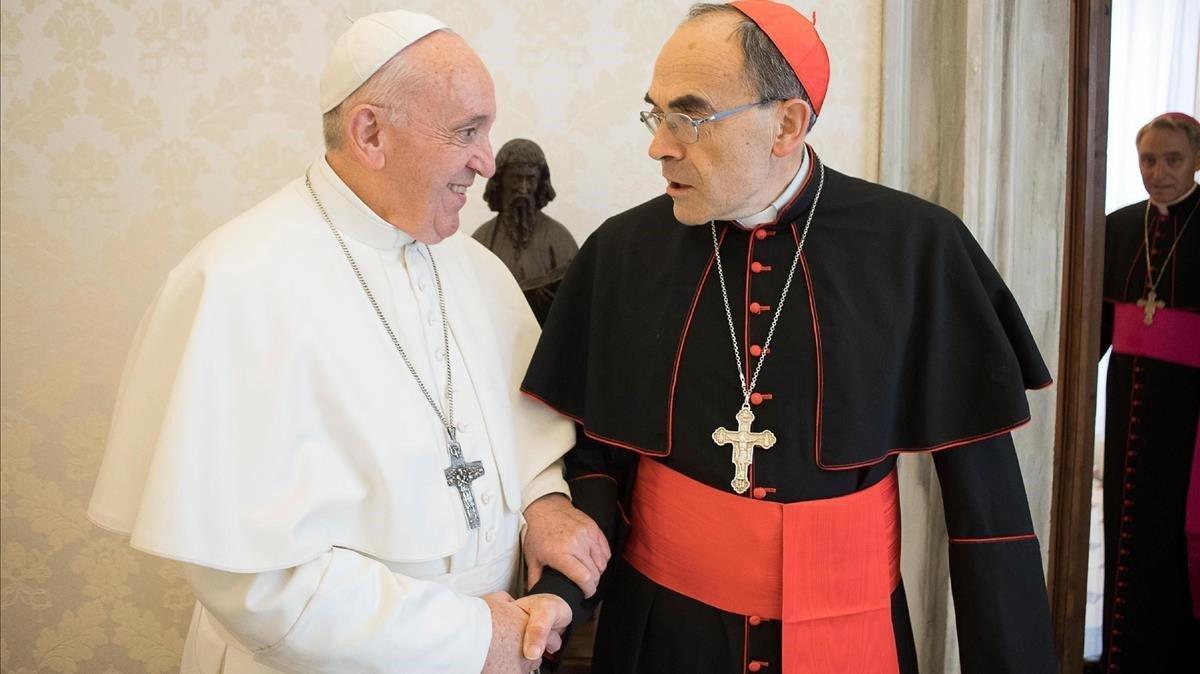 El papa Francisco, tras recibir el pasado lunesalcardenal Philippe Barbarin en el Vaticano