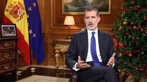 El Rey Felipe VI en su mensaje de Navidad a los españoles