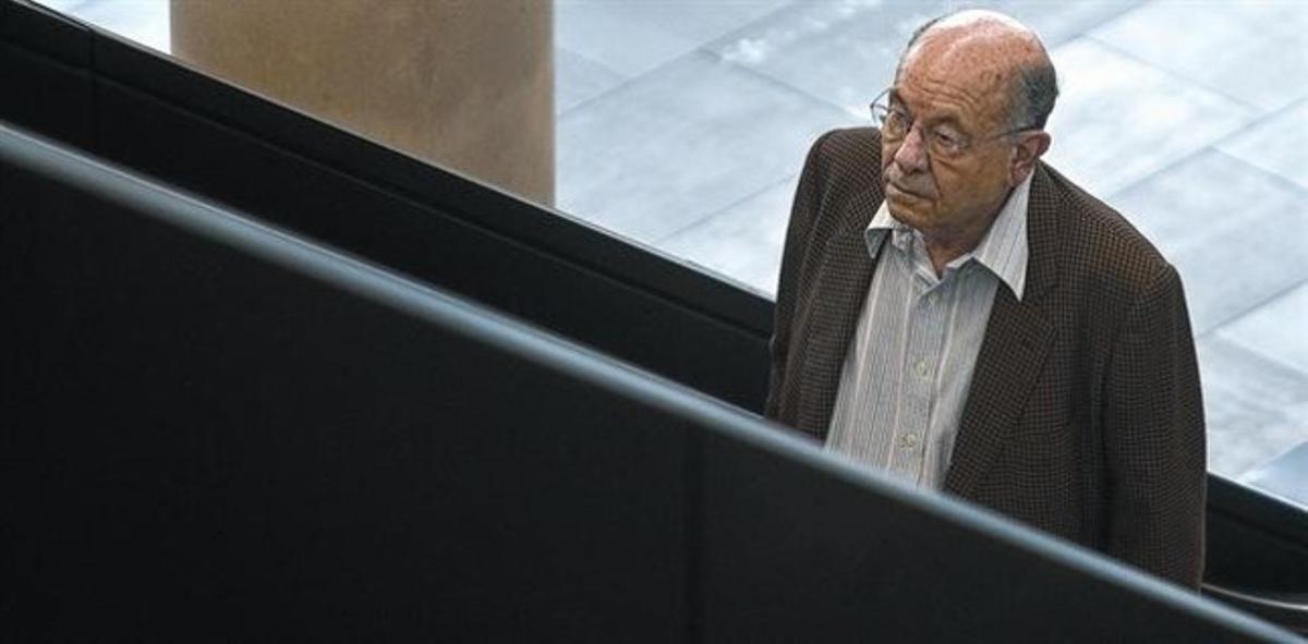 Millet acudiendo a declarar a la Ciutat de la Justicia, en abril del 2011.