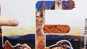 El sello de León en el que se aprecia la imagen de la catedral de Burgos.