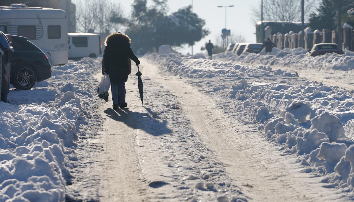 Temperaturas bajas después de la nevada.