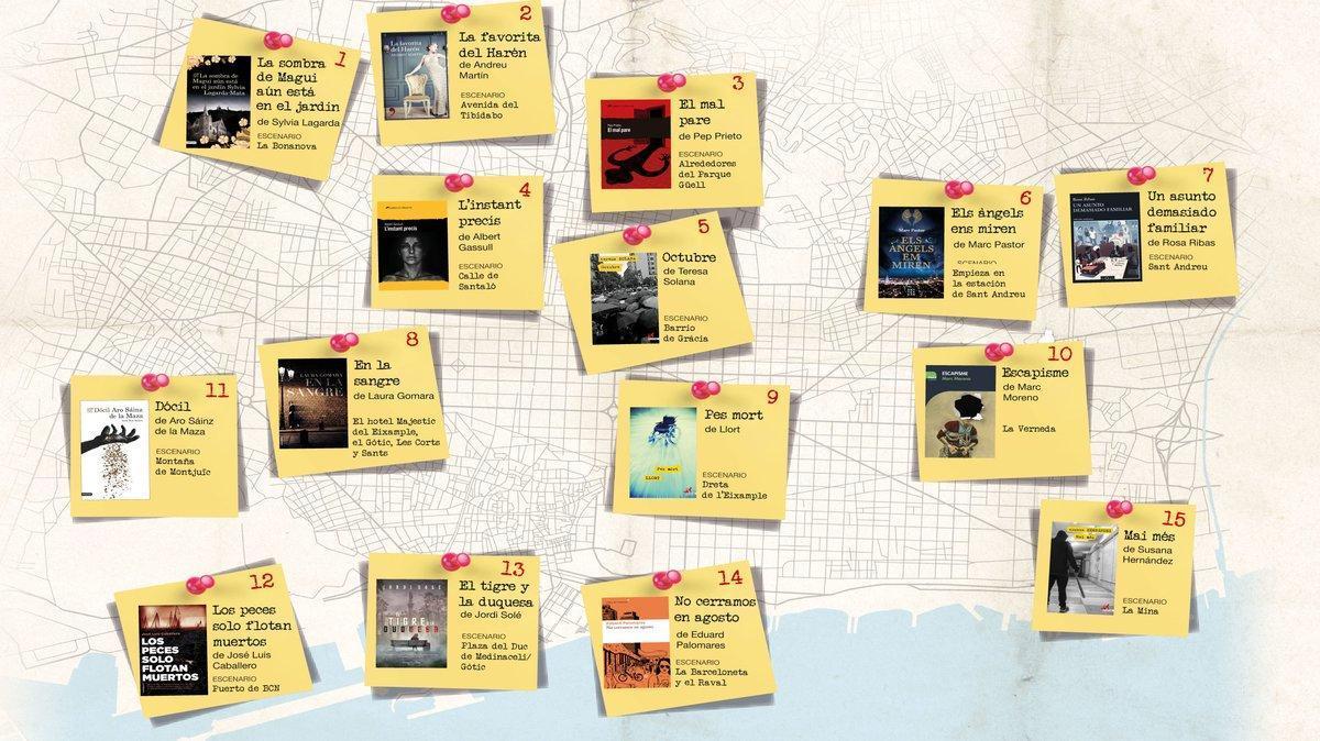 El crimen (literario) se extiende a todos los rincones de Barcelona