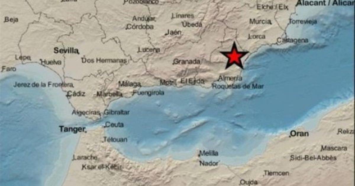 Registrado un terremoto de magnitud 3,4 en Almería