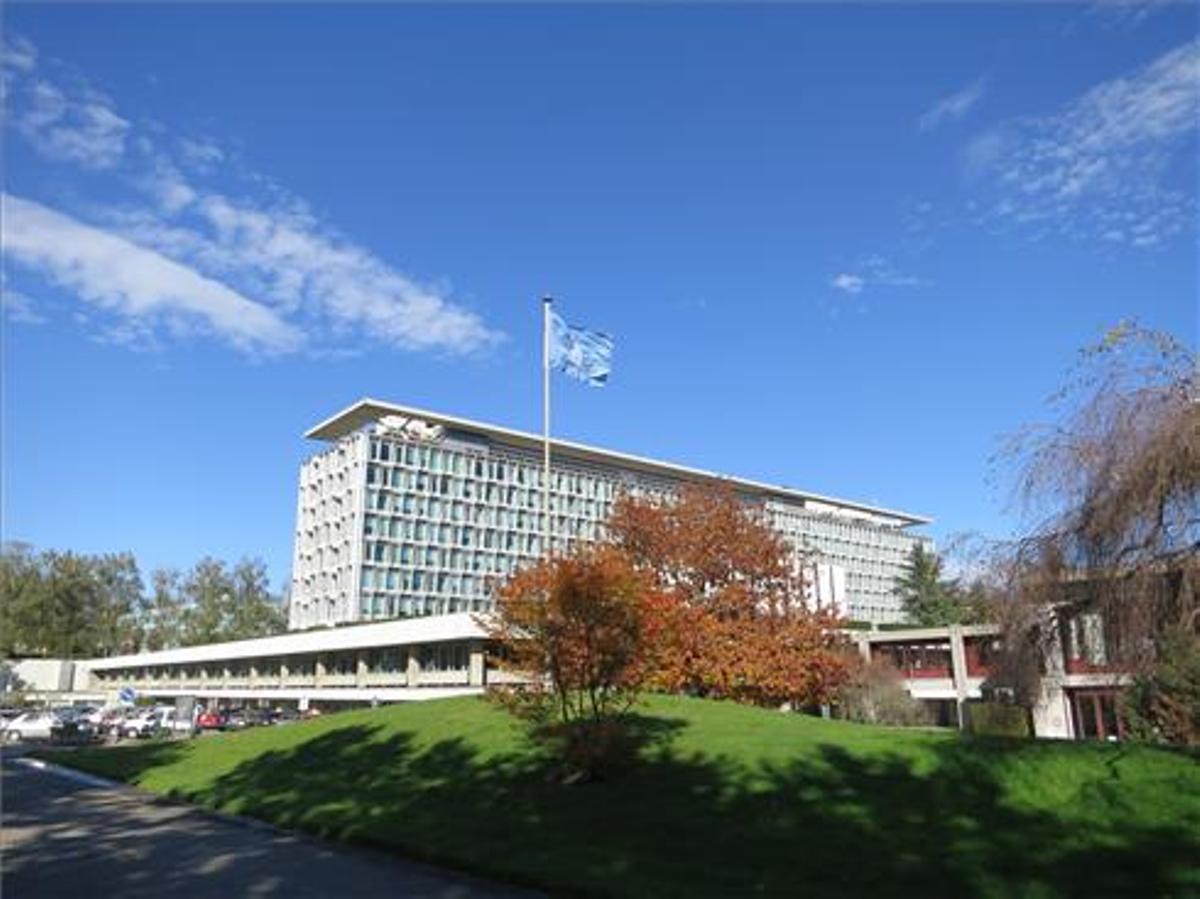 Imagen de la sede en Ginebra de la OMS.
