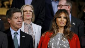 Joachim Sauer y Melania Trump, en el G-20.