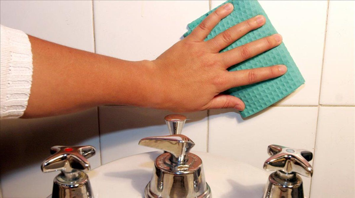 La bayeta y el estropajo son dos focos de bacterias en el hogar.