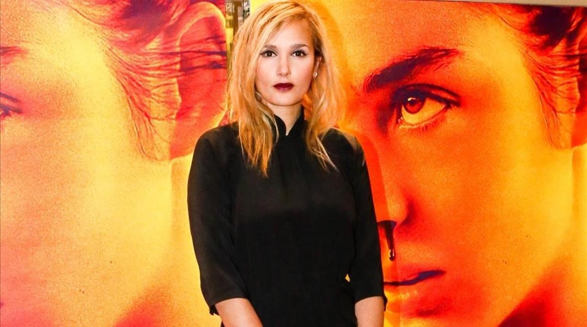 Julia Ducournau, en la presentación de 'Crudo' en París, el martes.
