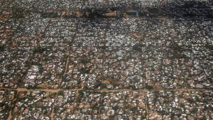 Vista aérea del campamento de refugiados de Dadaab.