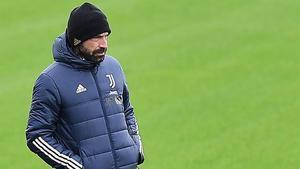 Pirlo, en el entrenamiento de la Juventus en Turín antes de viajar a Barcelona.