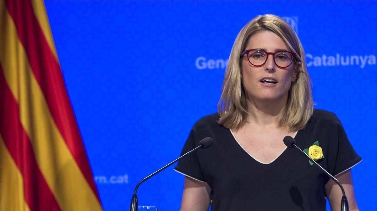 Elsa Artadi en la rueda de prensa posterior al Consell Executiu.
