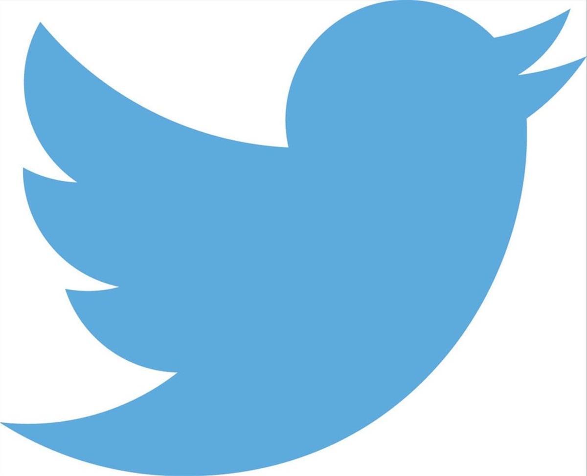 El pájaro azul logotipo de Twitter, una de las redes sociales más utilizadas.