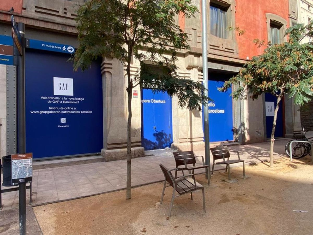 La tienda de Gap en la zona de Portal de L'Àngel de Barcelona.