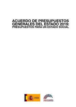Acuerdo presupuestario firmado por Pedro Sánchez y Pablo Iglesias.