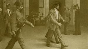 Huelga de la 'Canadenca', en febrero de 1919.