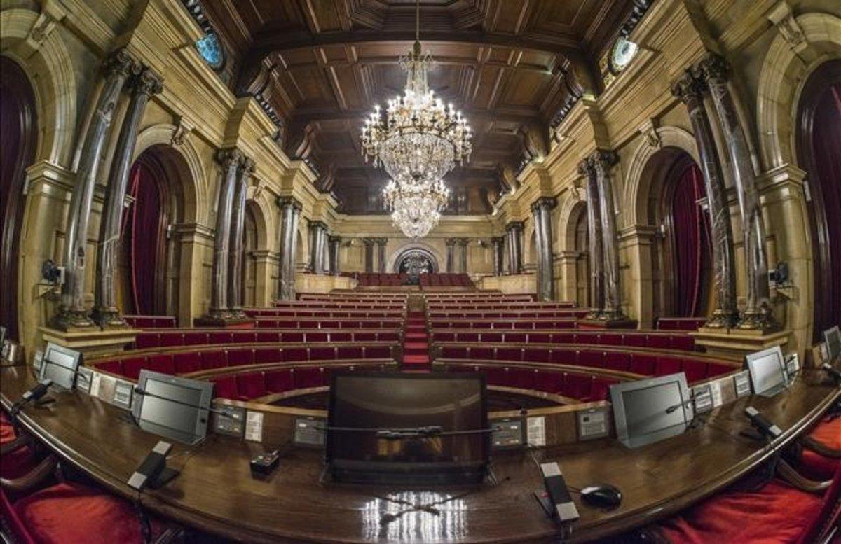 Hemiciclo del Parlament de Catalunya.