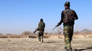 Militares afganos en una operación militar en la provincia de Kandahar.