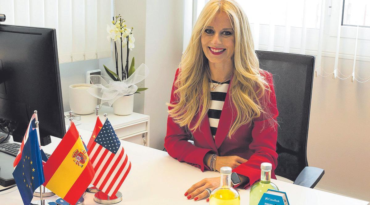 Sandra Casellas, en su despacho.