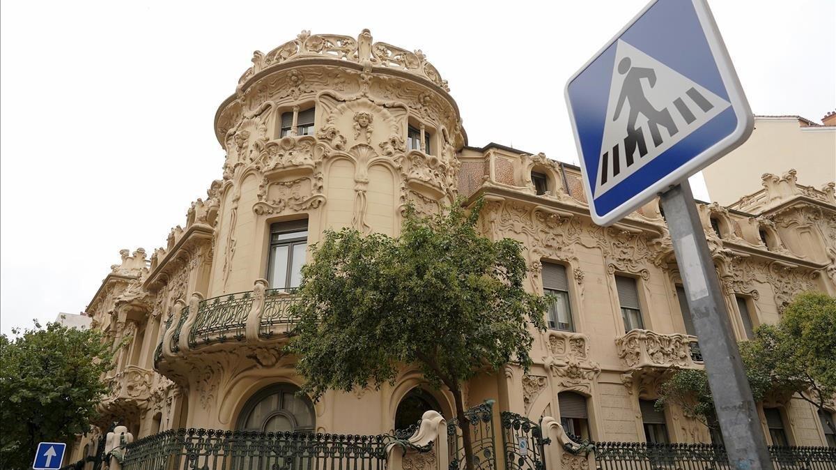 El edificio de la SGAE, en Madrid.