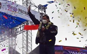 Luis Arce, candidato presidencial del partido Movimiento al Socialismo en Bolivia.