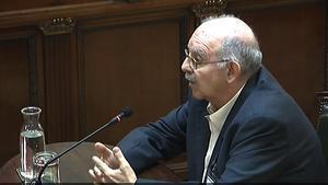 Joan Badia, durante su declaración como testigo en el juicio del Supremo contra los líderes del 'procés'.