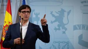 El ministro de Sanidad, Salvador Illa, este 26 de septiembre en Barcelona.