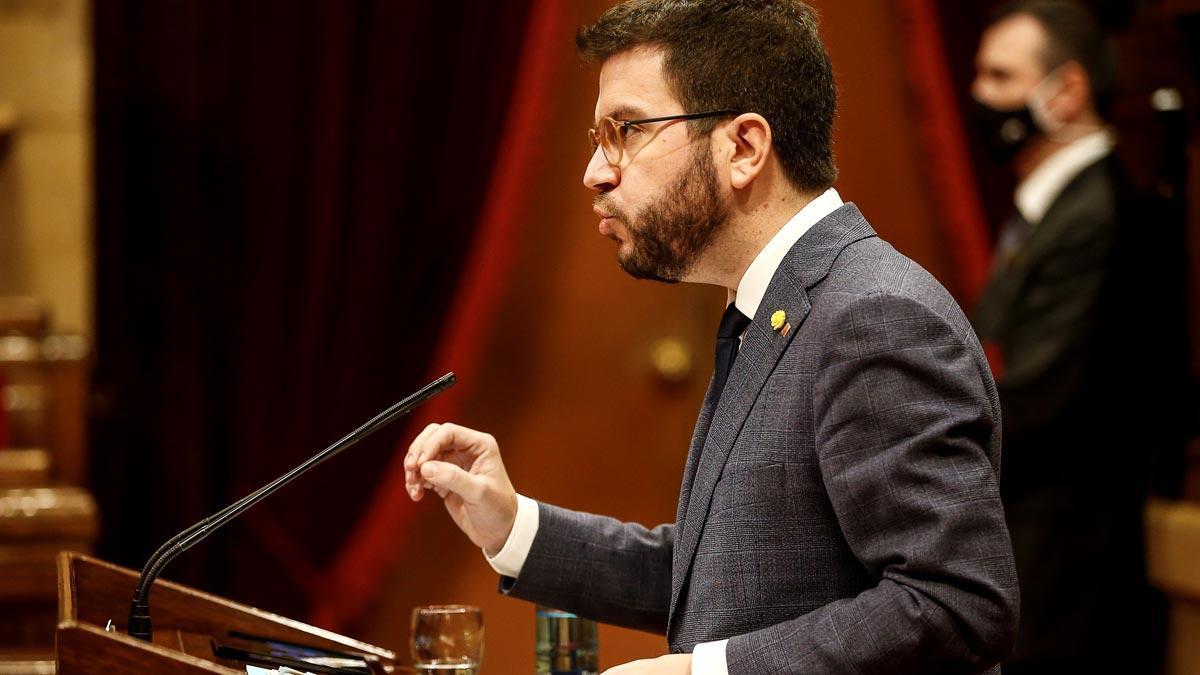 El candidato de ERC, Pere Aragonès.