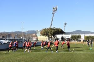Un entrenamiento del Reus.