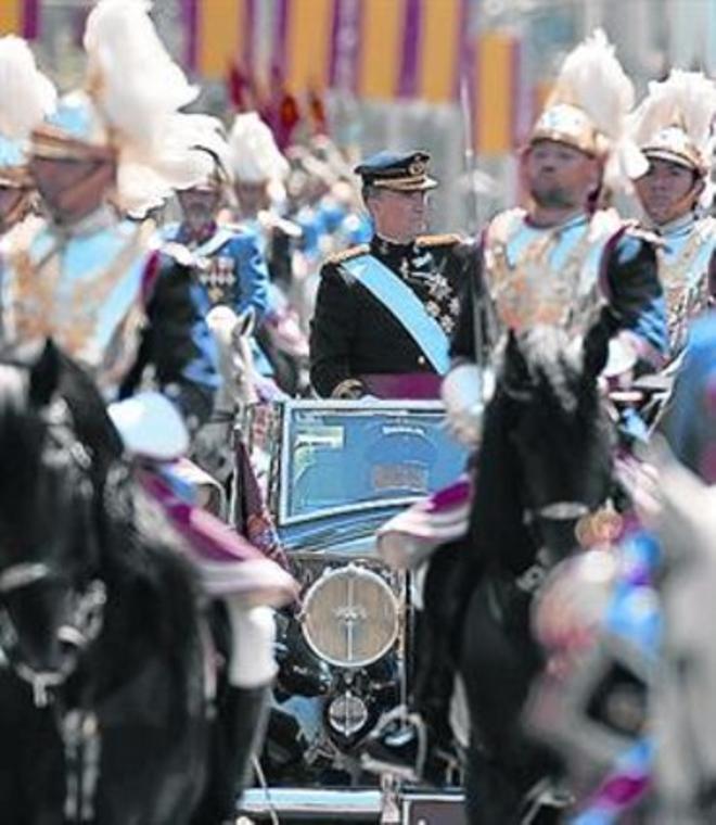 Felip VI, camí del Palau Reial.
