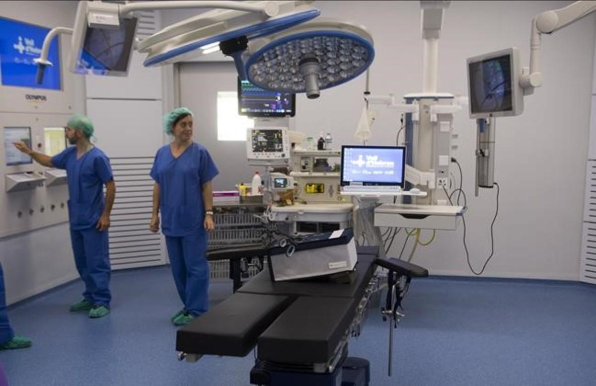 Uno de los quirófanos del nuevo bloque quirúrgico del Hospital del Vall d'Hebron