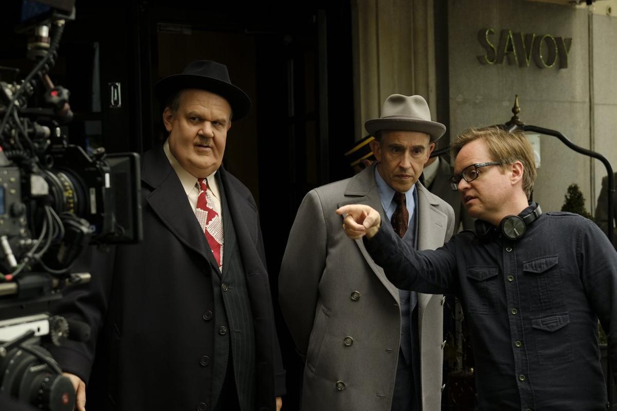 Jon S. Baird, dando instrucciones a los actores durante el rodaje.