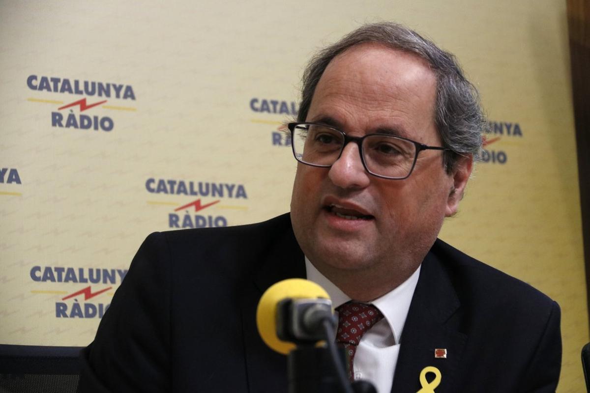 Quim Torra en Catalunya Ràdio.