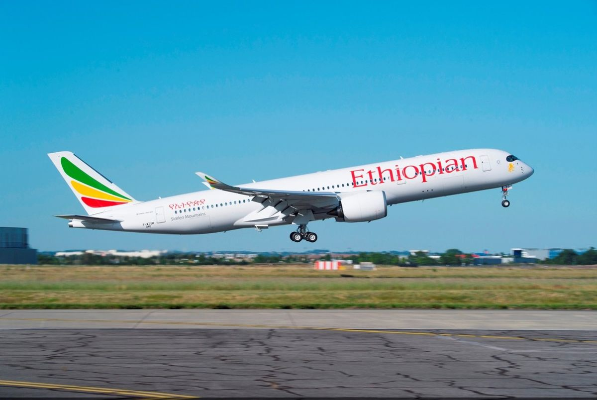 Un avión de Ethiopian Airlines.