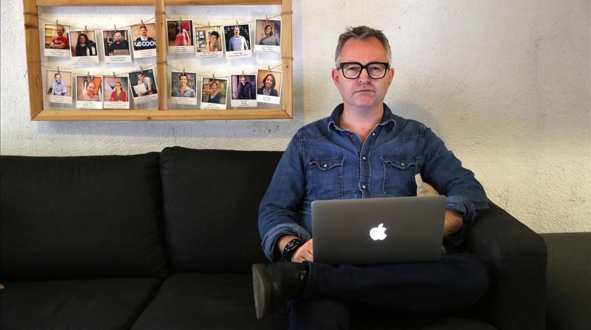 Mike Butcher, director del portal de noticias tecnológicas 'Techcrunch', en Barcelona.