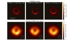 Seis imágenes del primer agujero negro que ha sido fotografiado.